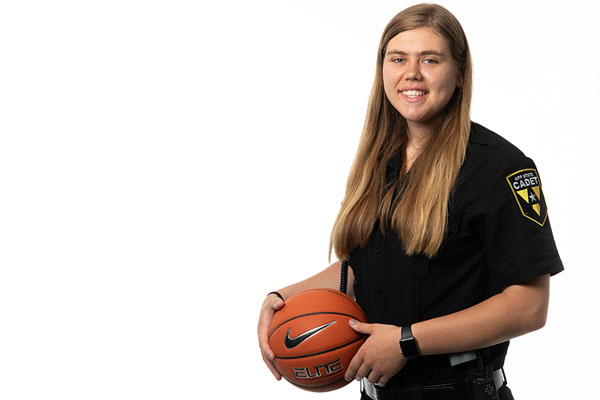 APDP cadet Bayley Plummer gives her all in the classroom, on the court and in the community